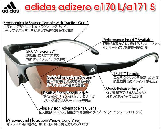 adidas adizero a170L/a171S の特徴