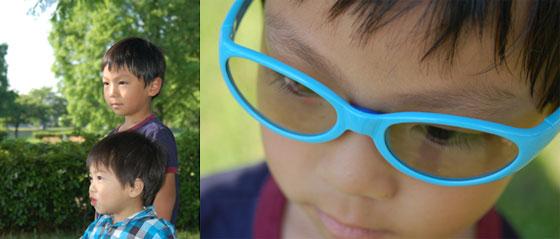 子供の顔に合ったサングラス