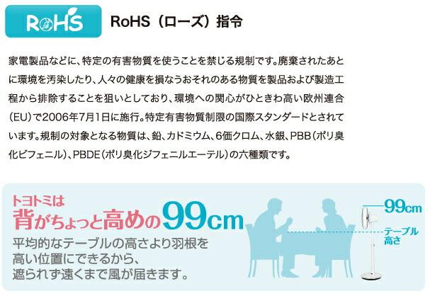 トヨトミ:リモコン式扇風機/FS-300DR-Wホワイト