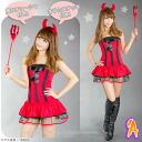 "-Little devil ""two"" headband, dress, little devil sticks, shorts thumps, came about Orientals I ♪ perfect for lovely little devil ☆ / MIME ☆ Halloween costume more than 7,000 yen"