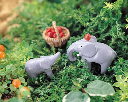 小型小动物安排[刺猬/驴/象]| 园艺装饰题材装饰动物