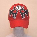 The cap (red) of the professional wrestling mask: Atlantis (2)