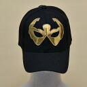 Wrestling mask Cap (black): brass (1)