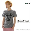 ★ ★ T shirt short sleeve Mickey T shirt mens Womens grn ジーアールエヌ /SS white grey red S M L size 10P10Nov13