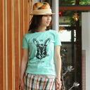 T shirt short sleeve design printed RABBIT 10P13oct13_b