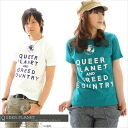 T shirt short sleeve QUEER PLANET print T shirt Internet limited 150 S M L XL all 15 color ★ 10P02Aug14.