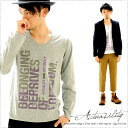T shirt design print Actuaslity long sleeve U neck T shirt mens Kurashiki Kojima from /LS 10P13oct13_b