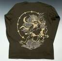 "The Kyoto yuzen / domestic production sum bottle tit sleeve T-shirt ""god of thunder"""
