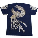 "It is fs3gm a Kyoto yuzen / discharge dyeing, embroidery / sum pattern T-shirt ""having a Court post Chinese phoenix"" (ゆうそくほうおう)"