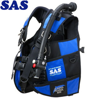 【SAS】10444ランドマークXIIAACS-1ブラックシリーズブラック/ブルー【送料無料】