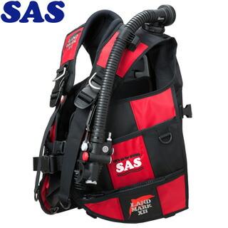 【SAS】10444ランドマークXIIAACS-1ブラックシリーズブラック/レッド【送料無料】