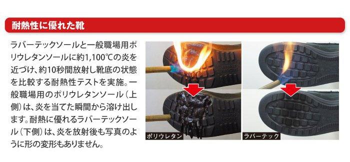 耐熱性に優れた靴