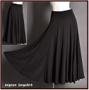 It is ★ elegant ♪ black long skirt for a chorus dance