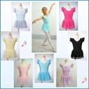 Ballet leotards child Angel wings like ♪ フルタースリーブ skirt with Cutie Leotard ★ # 8