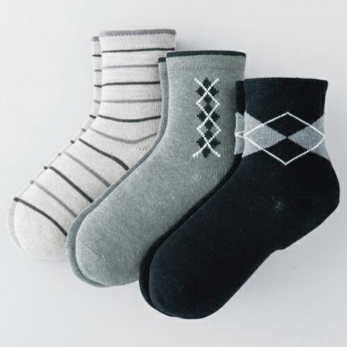 ... ソックス3柄組:靴下の三笠