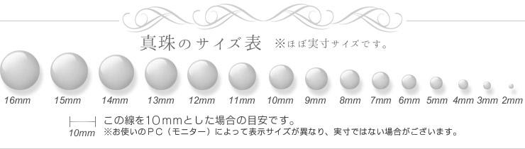 真珠サイズ表