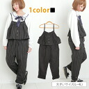 Large size women's all-in-one ■ stripe pattern Camisole type chest frills overalls ■ all-in-one overalls romper All in one M L LL 3 l 4 l 11, 13, 15, 17, larger [[685093]]
