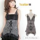 Big size underwear ■ attack sexy in Leopard pattern lace babydoll T Bag Leopard & lace! ■ Leopard print sexy baby doll babydoll lingerie LL 3 l 4 l 5 l 13, 15, 17, 19, [[MT-226BD]]