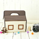 For DSLR cameras such as the EOS Kiss series ♪ camera girl ♪ cute camera case camera home SLR camera for flower dots chocolate