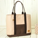 Camera tote bag / pink beige polka dot of the 11 canvas which is pretty by the camera bag ♪ fashion with the inner case