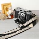 카메라 여자로 귀엽다!여자 카메라 스트랩/레이스 블랙