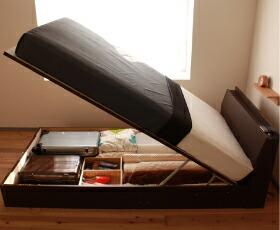 ガス圧式収納ベッド