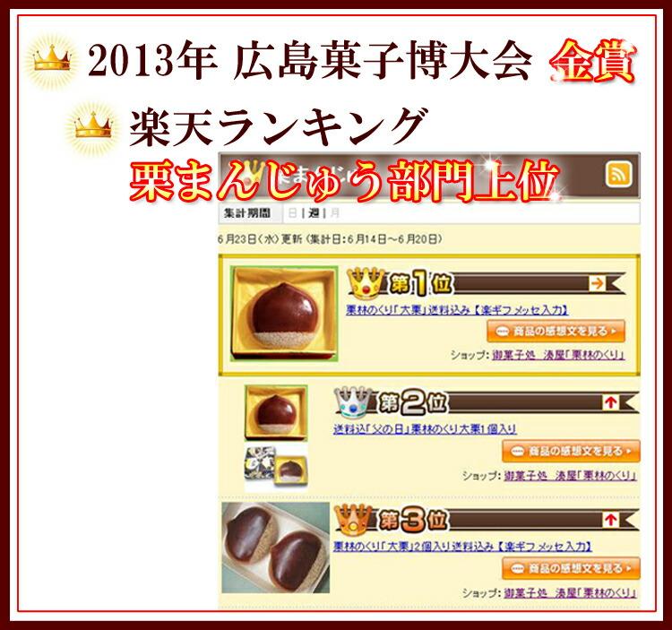 2013年 広島菓子博大会 金賞をいただきました