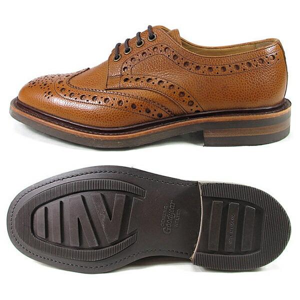 ローク ウイングチップシューズ LOAKE OTTERBURN タン Made in ENGLAND メンズ ビジネスシューズ ウィングチップシューズ 靴 革靴