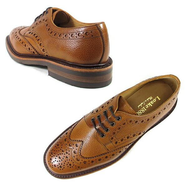 ロークウイングチップシューズLOAKEOTTERBURNタンMadeinENGLANDメンズビジネスシューズウィングチップシューズ靴革靴本