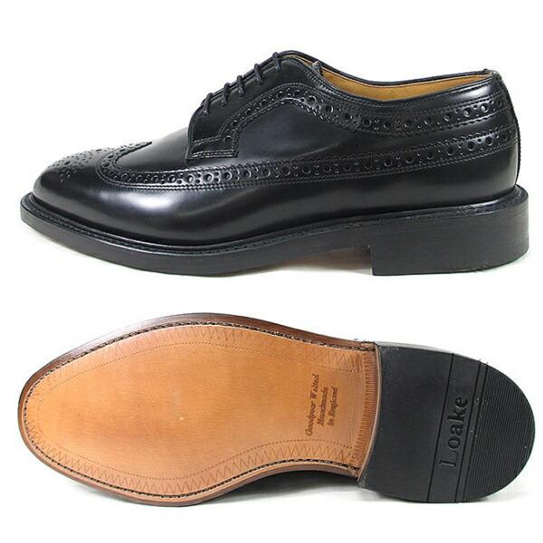 ロークウイングチップシューズビジネスシューズLOAKEROYALBROGUEブラックMadeinENGLANDメンズビジネスシューズウィングチップシューズ靴