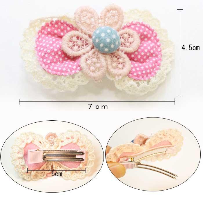 手工制作的花&发带毛环形别针/有孔玻璃珠