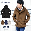 Pea coat men's short big food P coat shawl collar wool coat Melton jacket men's fashion short length trench outer outer fall fall winter minority MinoriTY DIVINER diving