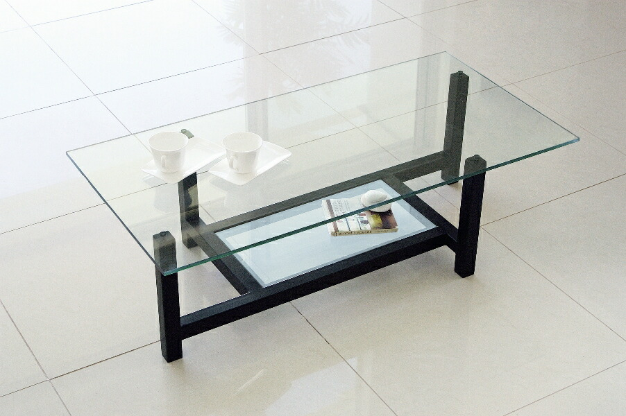 Center Table With Glass : ... Global Market: Center table, glass table, low table black frame NA-184