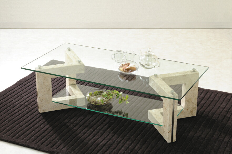 Center Table With Glass : ... Market: Glass table living center table Ms-2 マクタンスト — NG
