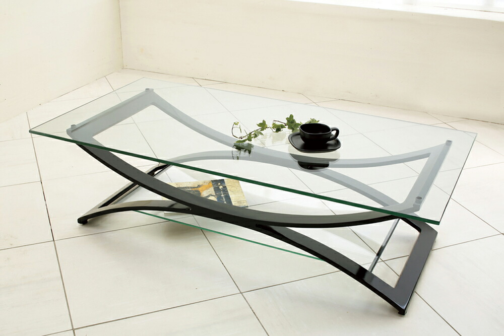 Global Market: Center Table, Glass Table, Low Table Black Frame NA 184