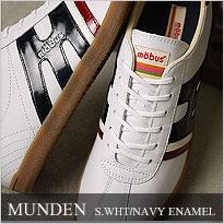 MUNDEN S.WHT/NAVY ENAMEL