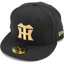 It is fs3gm NEWERA new era NEWERA cap NPB 59FIFTY Japan professional baseball フィフティーナインフィフティー Hanshin Tigers black / metallic gold (N0001883 SC) (NEW ERA)