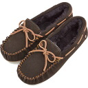 emu emu suede moccasins AMITY net tea CHOCOLATE (W10555 FW14) / emu boots regular article