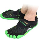 Five Vibram FiveFingers vibram five fingers men SPYRIDON Black/Green vibram five fingers finger shoes raise of wages feet (M4582)