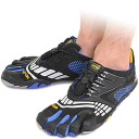 Five Vibram FiveFingers vibram five fingers men KMD SPORT LS Black/Blue vibram five fingers finger shoes raise of wages foot (M3785) fs3gm