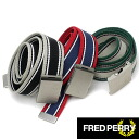 FRED PERRY TIPPED WEBBING BELT Fred Perry ティペッド webbing belts ( BT4416 )