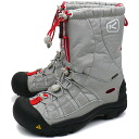 It is fs3gm (1003959 FW11) 2 port women Cool Grey/Red (SMU) for KEEN Kean WMNS Winterport II trekking boots winter