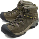 KEEN keen Targhee II Mid MNS trekking boots ターギー 2 mid men's Black Olive/Yellow ( 1002375 FW10 ) fs3gm