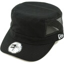 NEWERA new era Cap WM-01 MESH DUCK military Cap mesh duck black / white snow CAP ( N0010506 ) (NEW ERA)