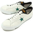 CONVERSE Converse sneakers ONE STAR J one star Japan white / green / yellow (32346654 SS14)