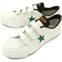 3 CONVERSE Converse sneakers ONE STAR J V-3 one star Japan Velcro white / green / yellow (32346664 SS14)