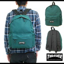 THRASHER slasher 1P backpack GREEN (THRSG-5900)