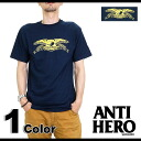 ANTIHERO Ann Thailand hero (nonhero) men's T-shirt Basic Eagle T-Shirt basic eagle TEE NAVY (51020080M SU14)