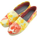 TOMS Tom's shoes Lady's sneakers WOMENS SEASONAL CLASSICS seeds null classical music slip-on Orange Palm Trees (10001388 SS14)