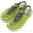 KEEN keen women's Sandals UNEEK WMNS unique Womens Gargoyle/Bright Chartreuse (1013095 SS15)